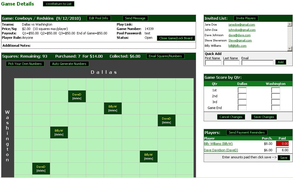 Football Pool - Play Football Squares Online